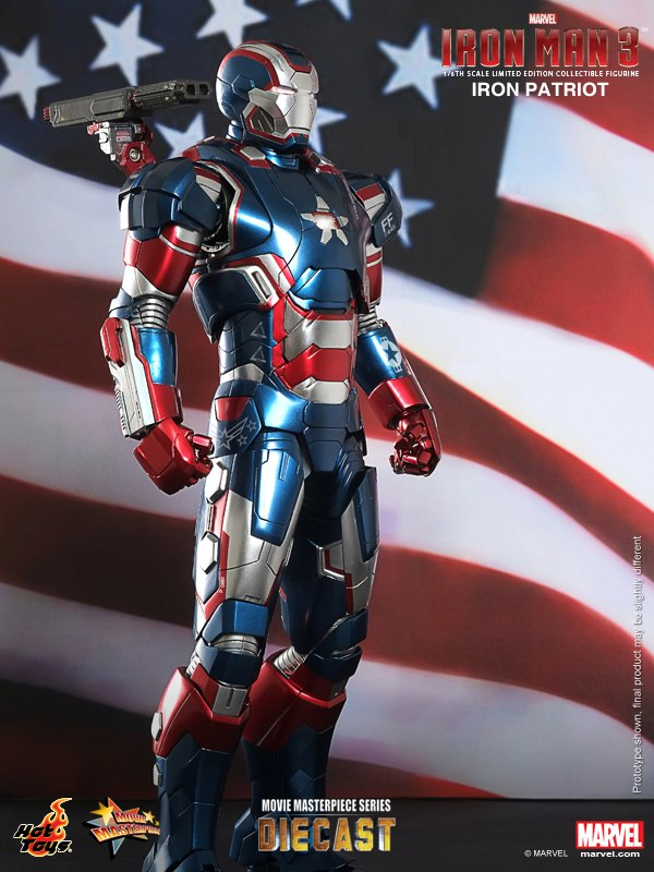 Iron Man 3- 1:6th scale Iron Patriot 5